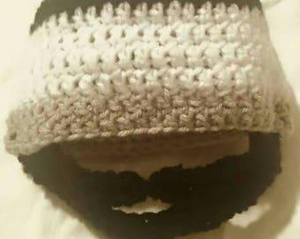Any color Crochet beard hat