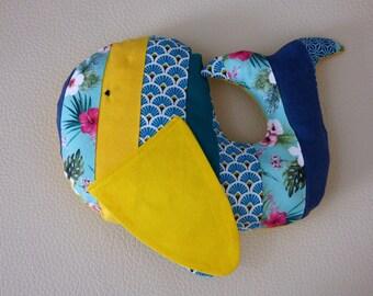 Plush whale Isidore/Whale plush fabric