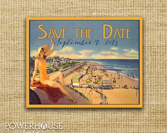 Cape May Vintage Postcard Save the Date