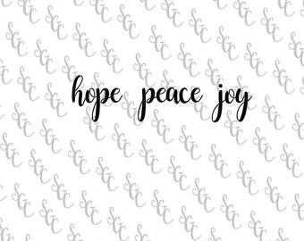 Reusable Stencil - Hope Peace Joy