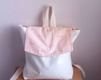 Pink kids backpack