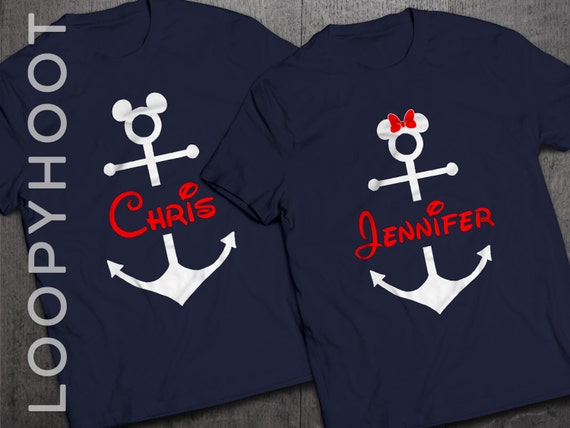 Disney Cruise Shirts Personalized Mouse Anchor For Family