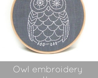 Owl Embroidery Pattern - Digital Download