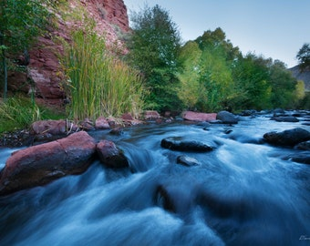 Photograph of West Clear Creek, Arizona, printed on metal and ready to hang