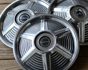 Vintage 1965 Ford Mustang Hubcaps