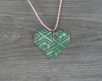 Heart Pendant Necklace // Adjustable Cord