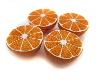 10 Large Orange Beads