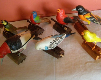 Toy Bird Plastic Model Collection Set of 7