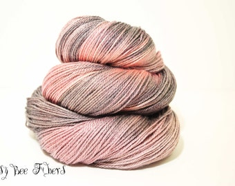 Hand Dyed Sock Yarn, Fingering Weight, Superwash Merino-Tencel-  430 yards approx - BLOSSOM