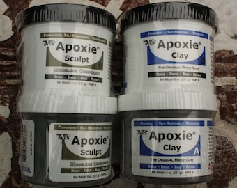 Aves Apoxie Clay or Apoxie Sculpt 1 pound adhesive sculpting clay air dry clay