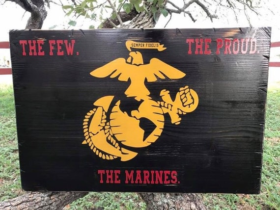 "Marines Semper Fi Sign 16""x24"""