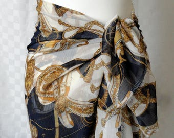 Sarong, Large scarf, Print sarong, Beach cover up, Oversized scarf, Shawl, Beach wrap, Fashion accessories
