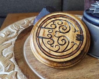 Wood Burn Hobbit Door Waterproof Coaster