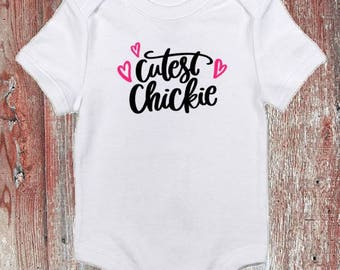 Cutest Chickie Easter Infant Bodysuit or Toddler Tshirt