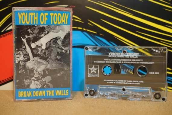 Break Down The Walls by Youth Of Today Vintage Cassette Tape