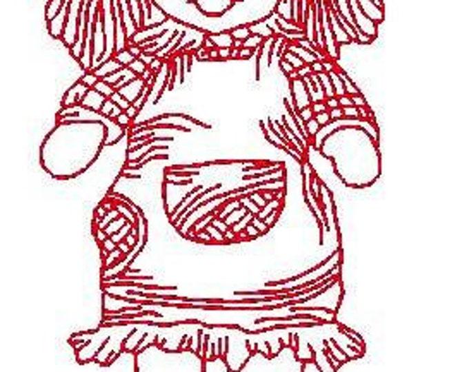Redwork Ragdolls  ( 20 Machine Embroidery Designs from ATW )