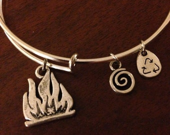 Divergent Dauntless Faction silver wire wrap adjustable bangle FREE SHIPPING