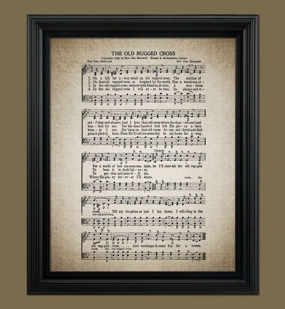 The Old Rugged Cross Hymn Hymnal Sheet Sheet Music Home