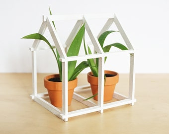 Geometric House - white - Home Decor