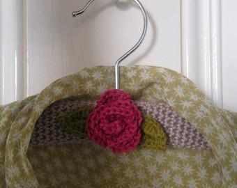 Crochet Pattern for Rose Coat Hanger