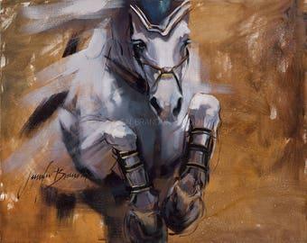 Equestrian Breakthrough 1 Portrait Giclée Fine Art Print