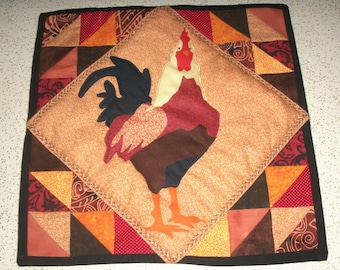 Ruler of the Roost Hand Pieced and Quilted Pillow Cover