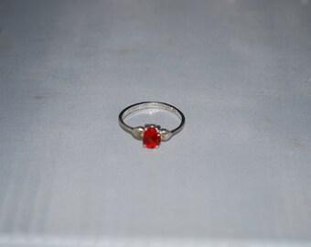 Sterling silver Garnet ring size 6.5