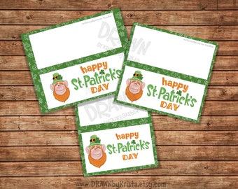 "Happy St. Patrick's Day Printable Bag Topper Set, (3""/4""/5"" wide) Includes PYO Version- PR63-LEPSTPAT"