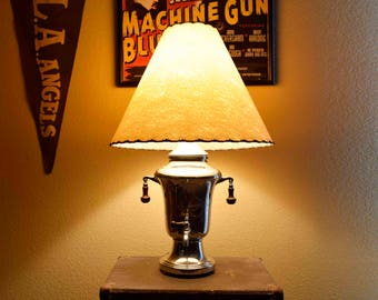 Vintage Electric Coffee Percolator Up-cycled into Lamp. Circa 1950's.