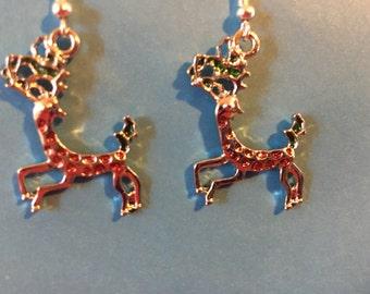 Christmas Reindeer Earrings   H17