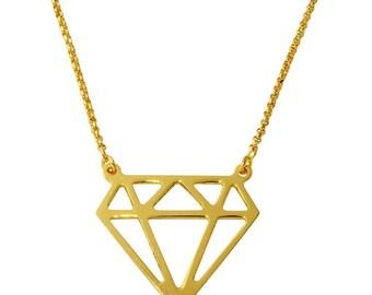 Form-Diamant-Halskette