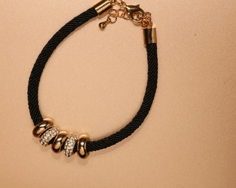 Braided 14k White Yellow Gold Bracelet
