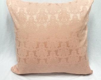 16x16 Jacquard accent pillow, Pale peach