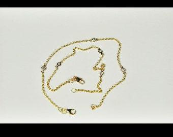14 karat Yellow Gold Diamond by the Yard Bracelet