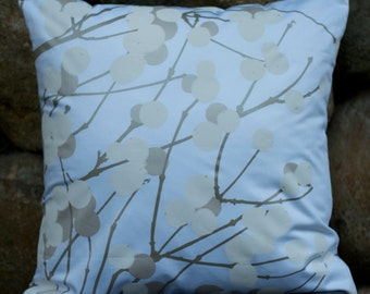 "20""x20"" Marimekko Pillow Cover. Handmade. Pattern: Lumimarja by Erja Hirvi. (50x50cm)"