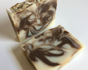 Peppermint Mocha Soap - All Natural Soap, Cold Process Soap, Vegan Soap, Palm-Free Soap, Essential Oil Soap