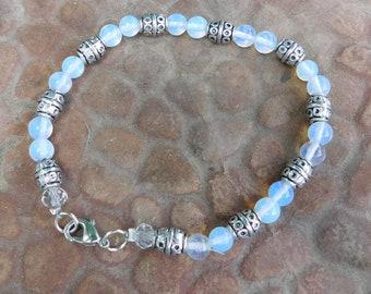 Moonstone and Silver Bracelet