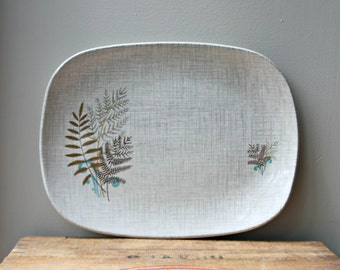 Sale!-J & G Meakin Rock Fern Platter, Serving Plate, 1950's Dining
