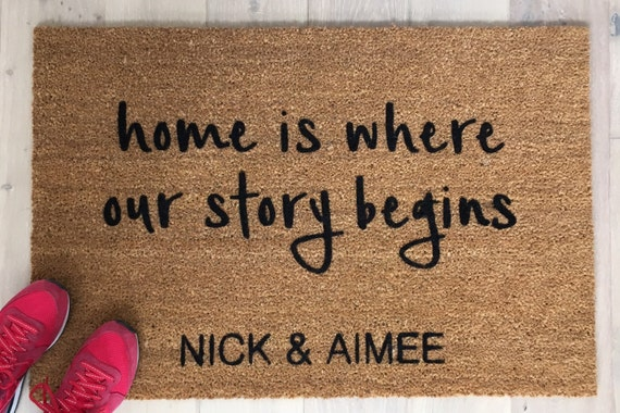 Personalized Doormat / Door Mats / Welcome Mat / Couple's Gift /Housewarming Gift / Door Mat / Gift for Spouse  / Gift for Wife / Home Decor