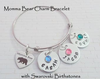 Mother's Day Gift, Mom Gift, Gift for Mother, Mothers Day Charm Bracelet, Mother Jewelry, Birthday for Mother, Custom Mother Gift