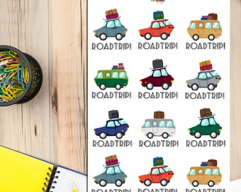 Road Trip Planner Stickers | Travel Trip Planning | Road Trip Stickers | Travel Stickers (S-092)