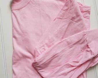Clearance long sleeve pink tee
