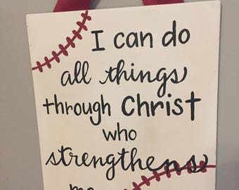 I can do all things through Christ-hand painted canvas