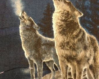 By the Light of the Silvery Moon!  Moon Wolves by Quilting Treasures
