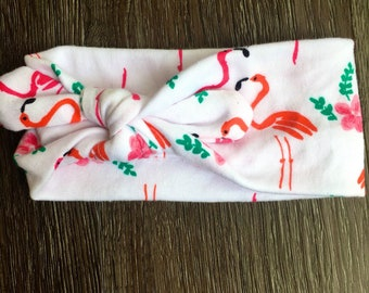 headband, flamingo, pink flamingo,headband, stretchy headband, gifts, hair accessories, head wrap, hair tie