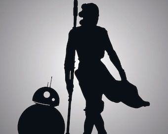 Star Wars Rey and BB8 - vinyl decal