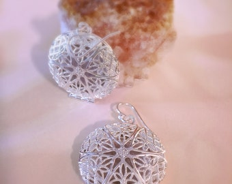 Silver Aromatherapy Earrings