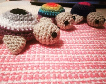 Amigurumi Crochet Pattern - Pride Turtles