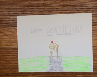 Cute happy anniversary card