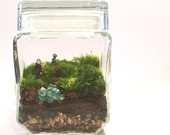 The Walking Dead Inspired Terrarium // Mini Negan + Zombie